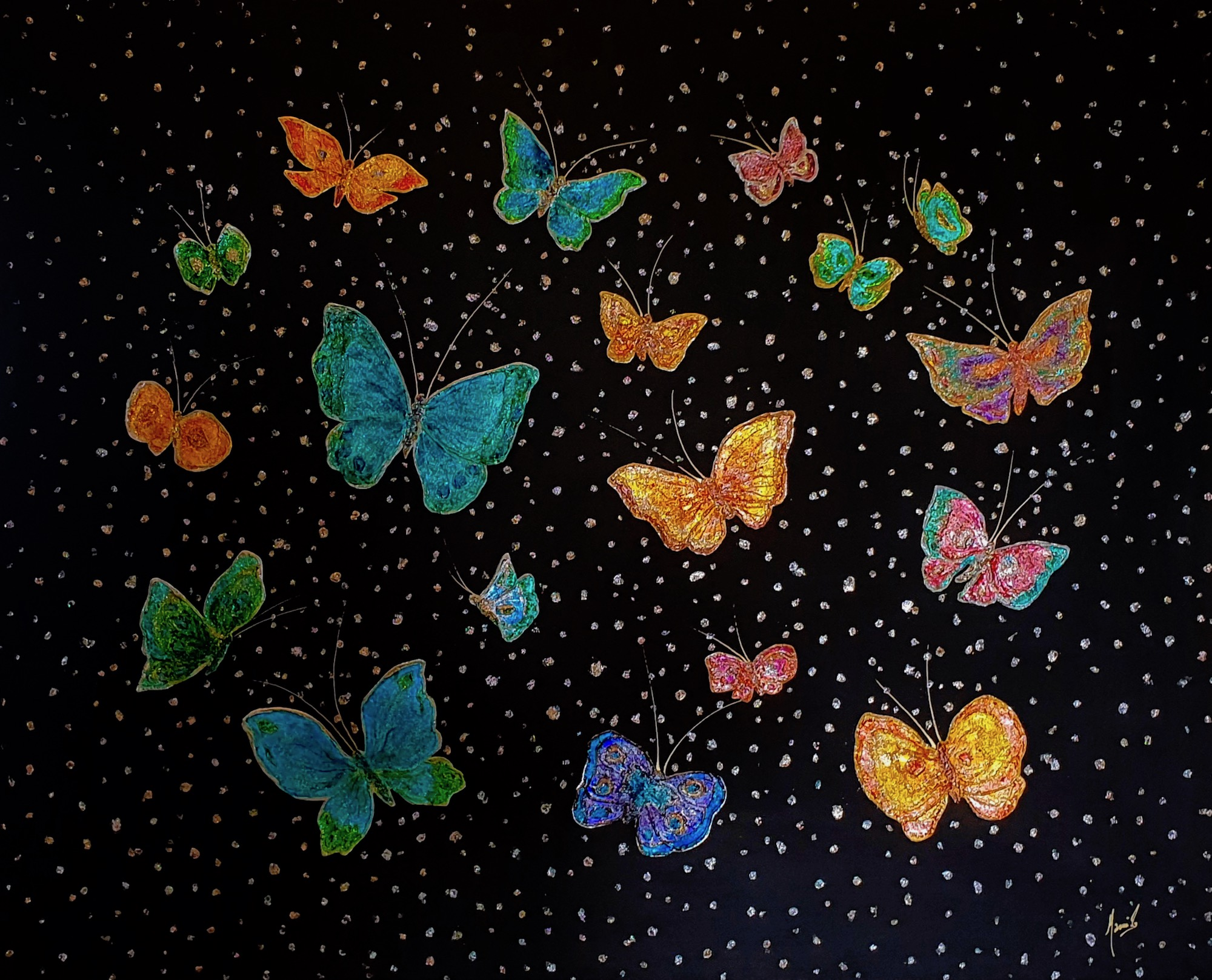 MAMI / Images et Poésie, Air Papillon (81 x 100cm)