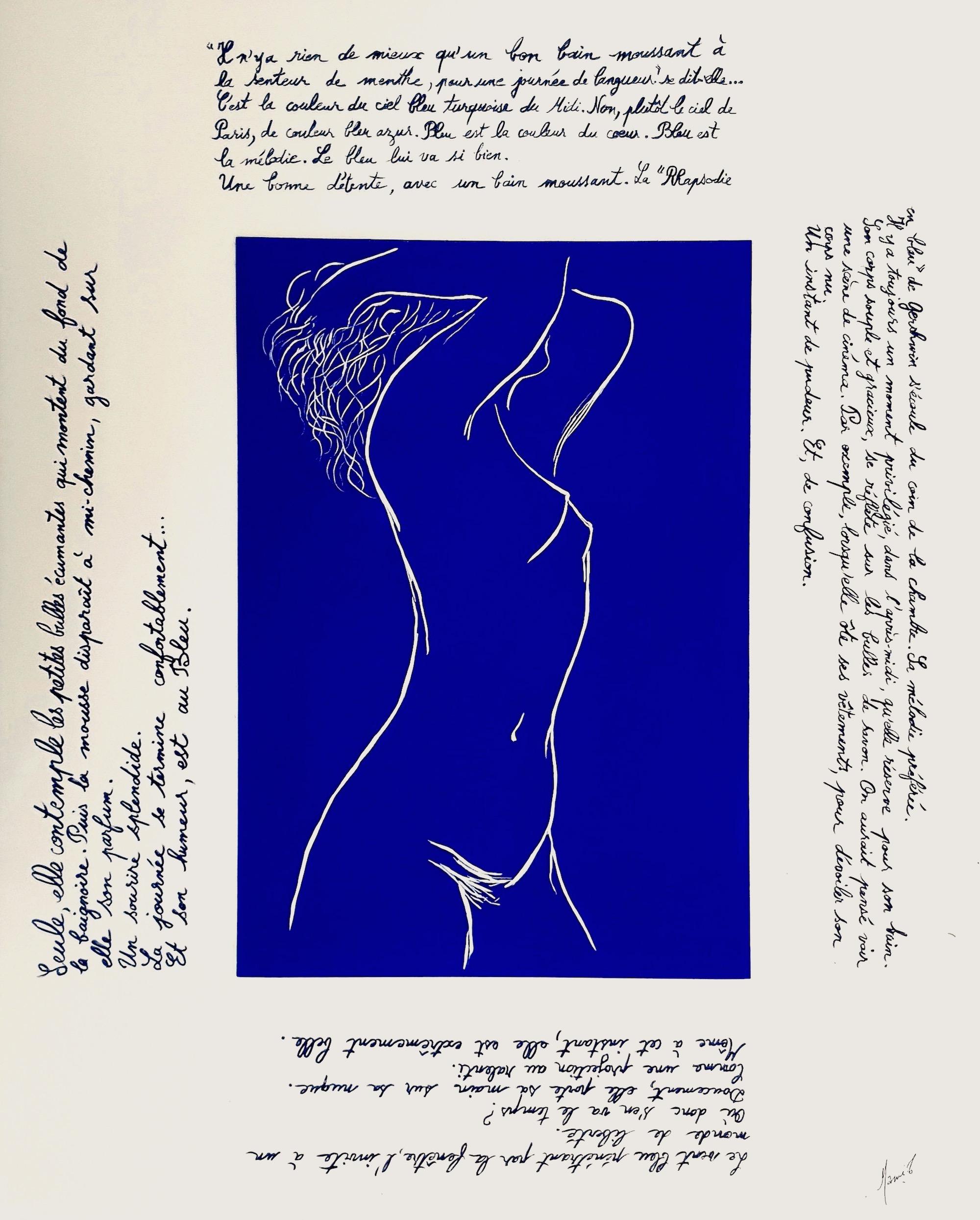 MAMI  / Images et Poésie , Bain Moussant Bleu