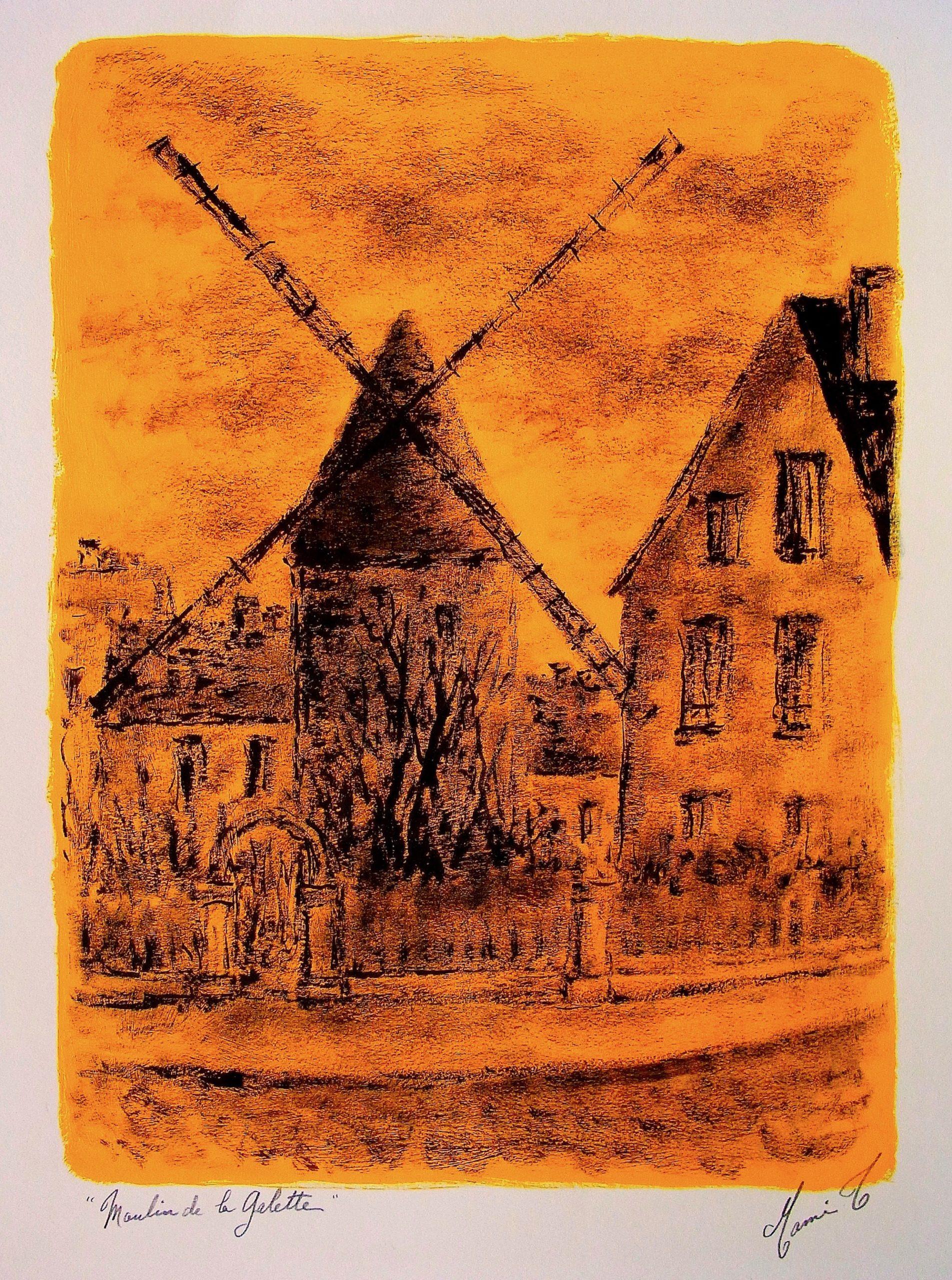 """MAMI/ Images et Poésie, Dans les Bras de Paris """"Le Moulin de la Galette"""""""