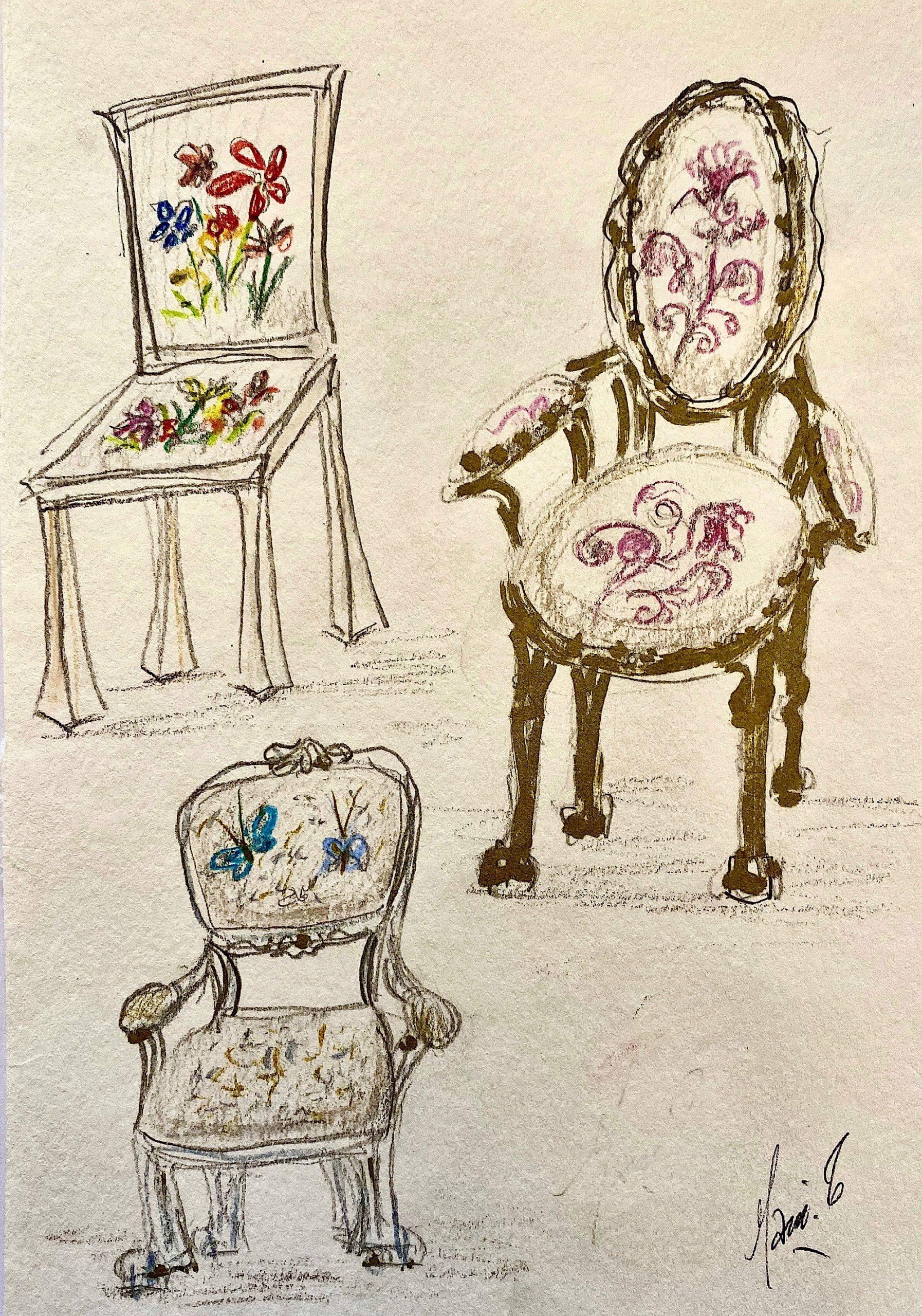 Cahier de mes Rêves, Les Fauteuils d'Art